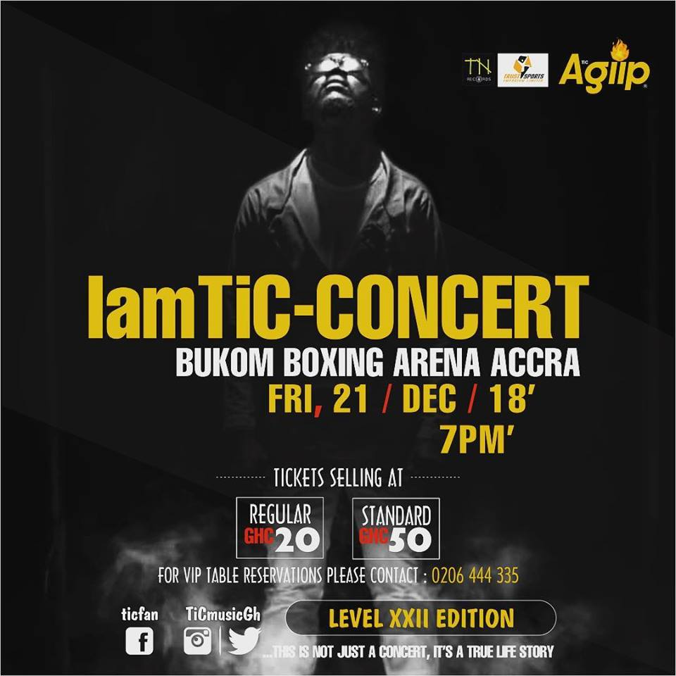 IamTic Concert Slated On The 21st December At Bukom Boxing Arena