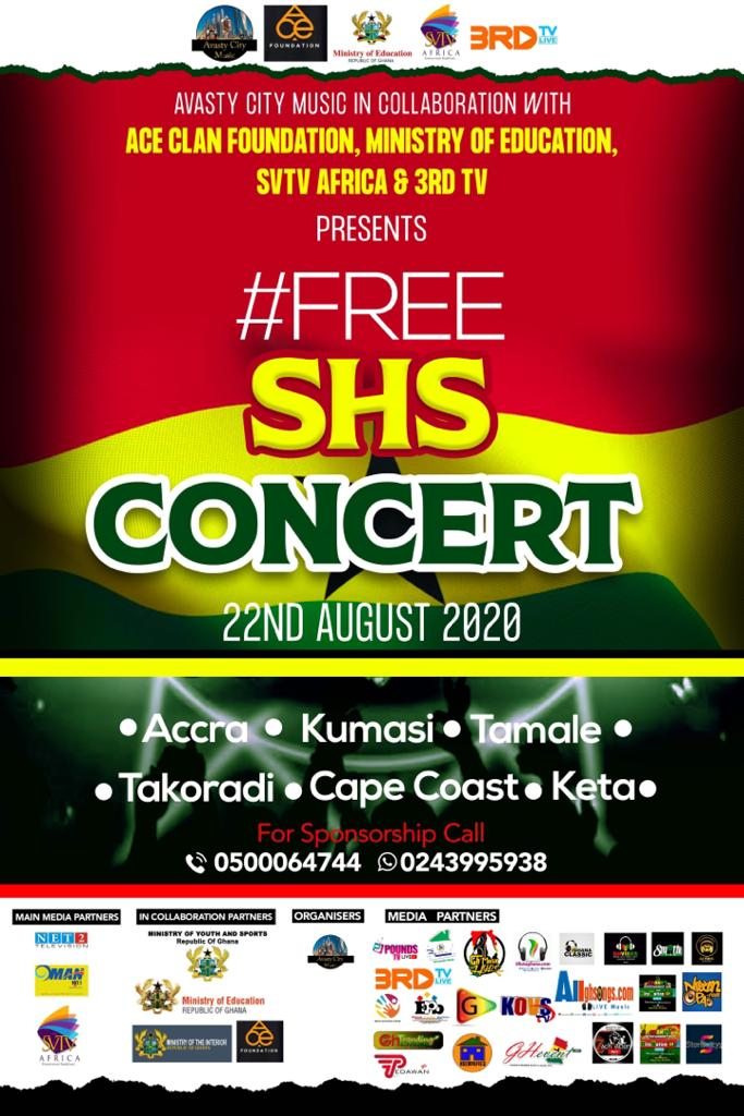 Avast City Music In Collaboration With Minister Of Education Ace Clan Foundation To Host Free SHS Concert