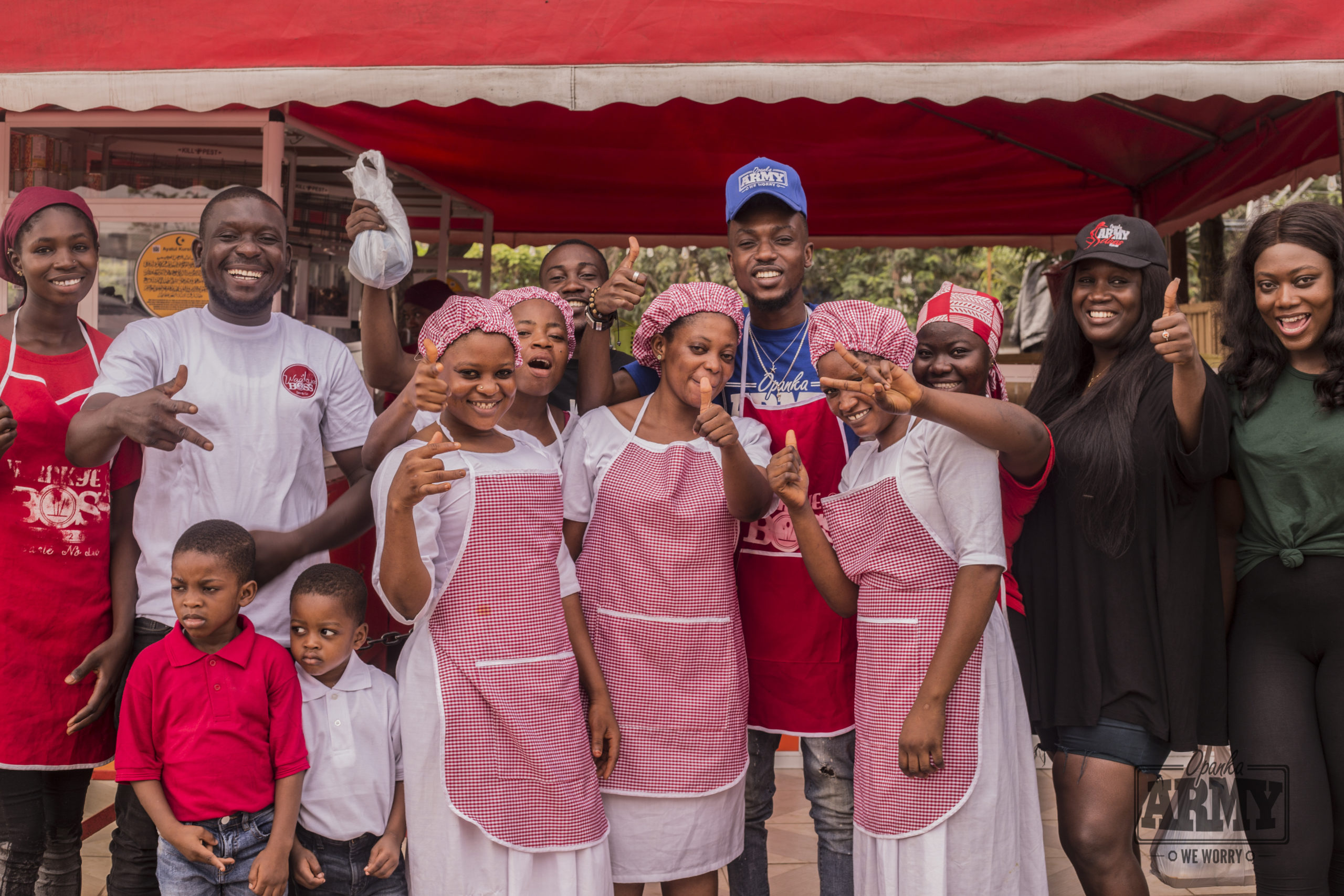Opanka Serves Free Food On Ghana Independence Day
