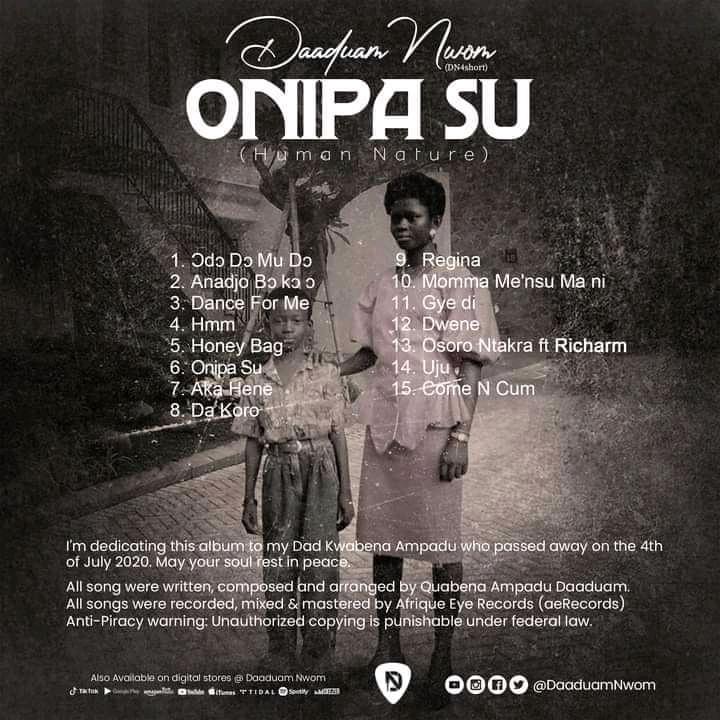 Album Review: Onipa su album by Daaduam Nwom – Mixtic writes
