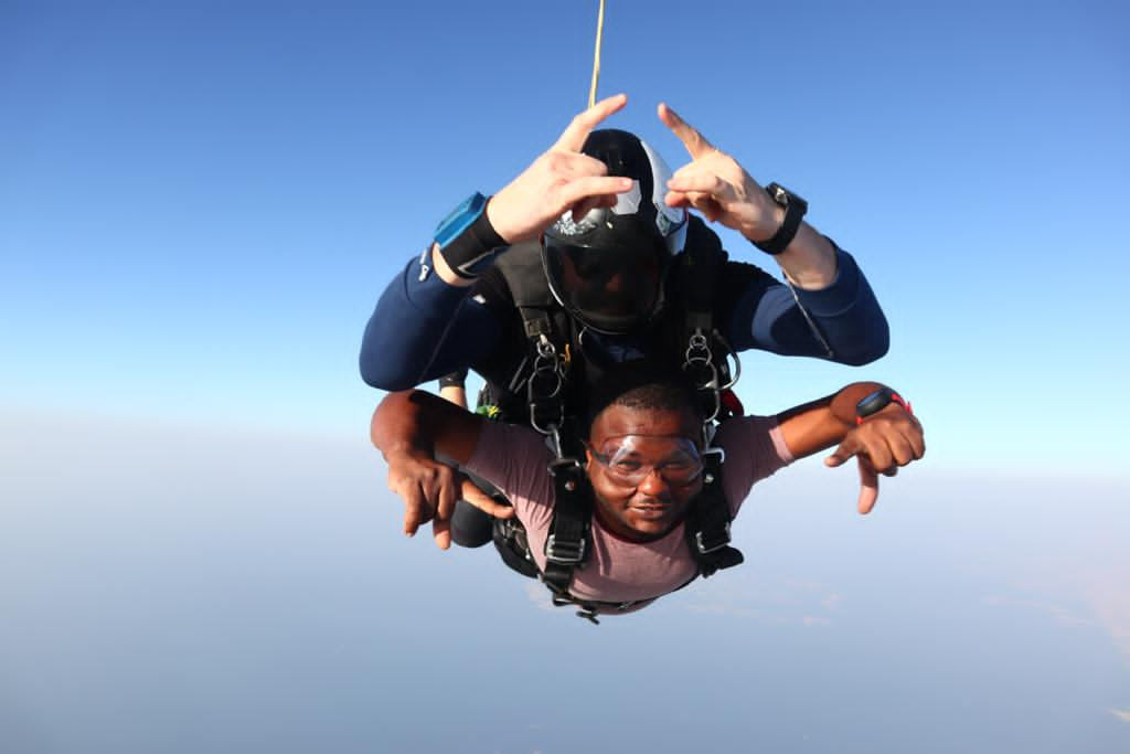 Pizarea CEO Henry Ameleke Becomes First Ever Ghanaian To Skydive On Dubai's Palm Drop Zone